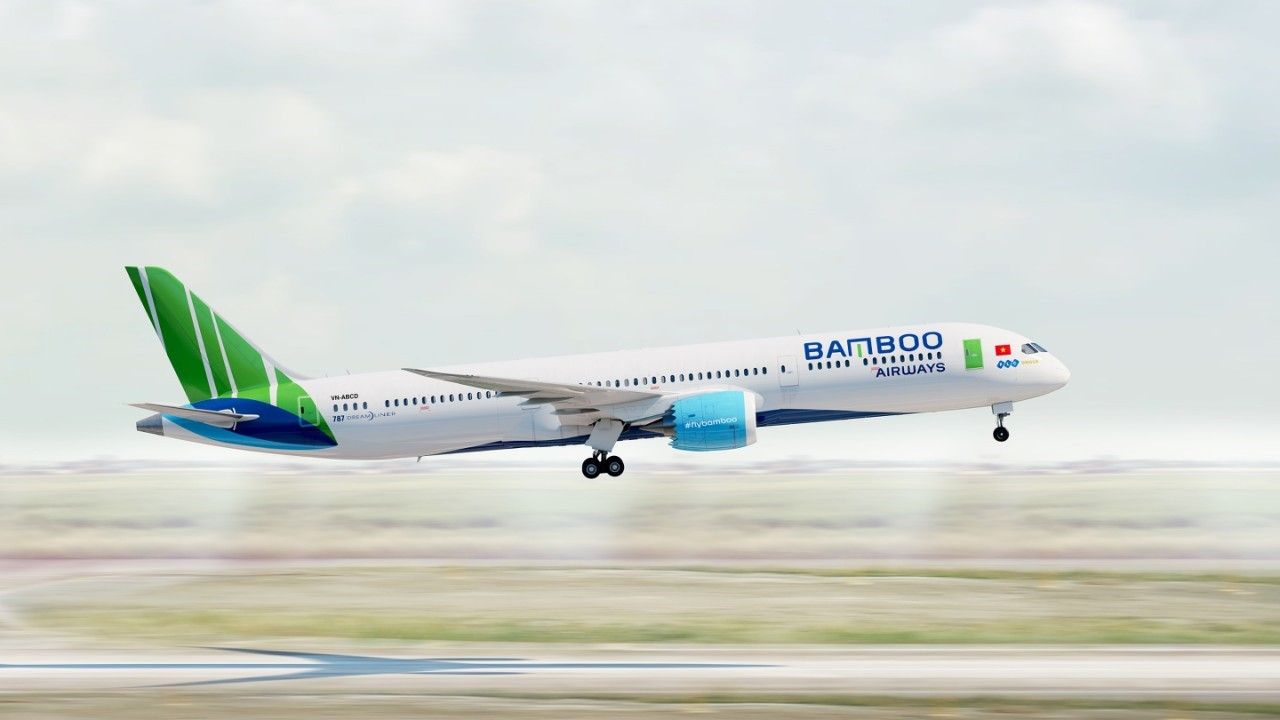 Hình ảnh: Bamboo Airways chính thức nhận bàn giao hai máy bay Boeing 787-9 Dreamliner số 3