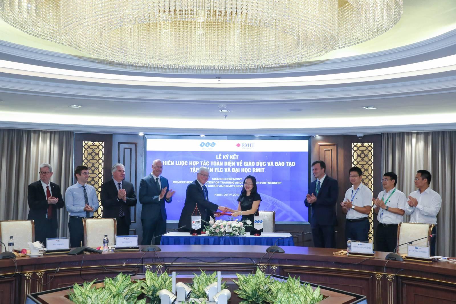Đại học RMIT và Tập đoàn FLC hợp tác chiến lược về giáo dục và đào tạo